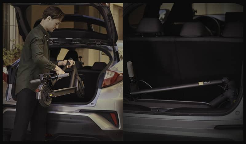 patinete Xiaomi maletero coche